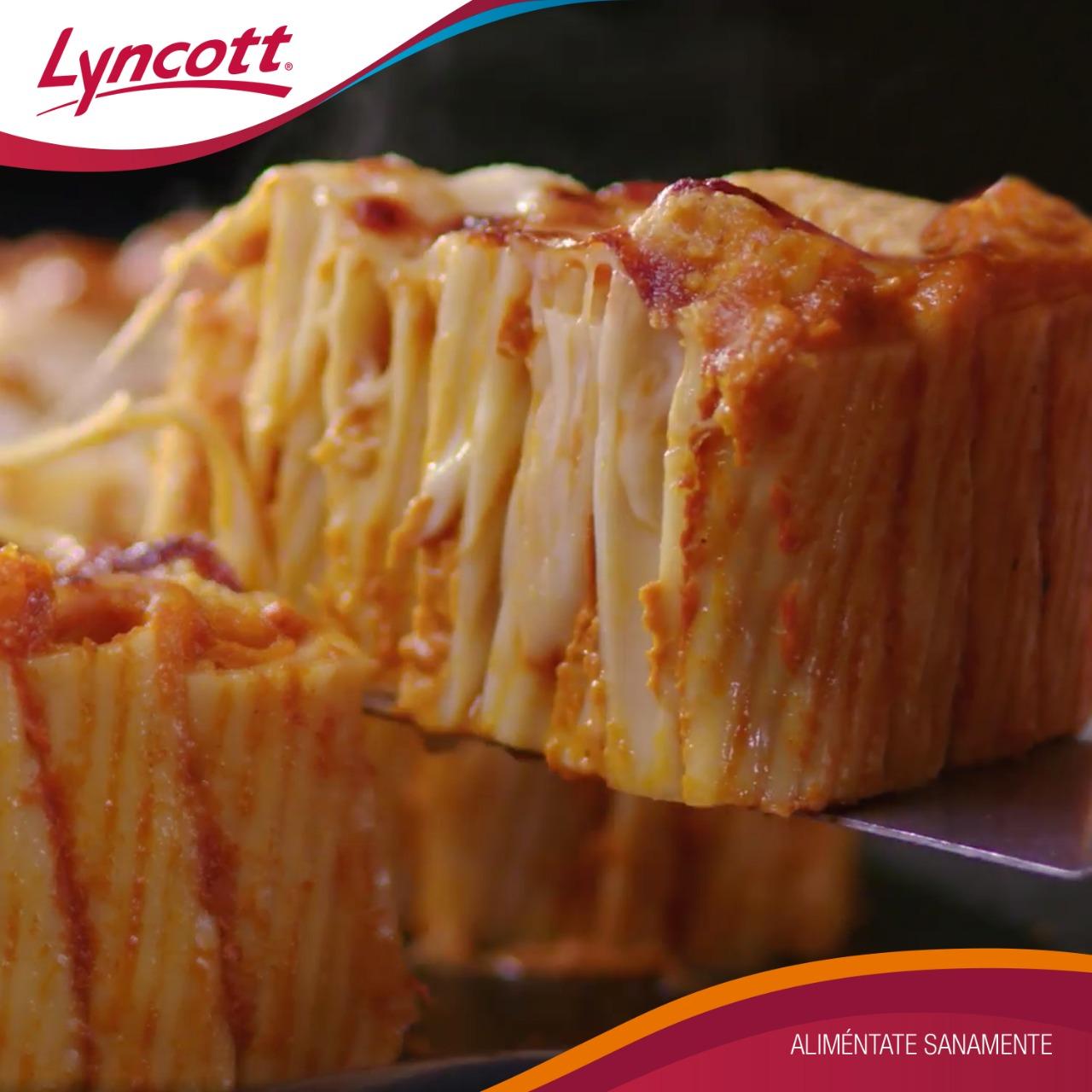 Pie de Rigatoni y Queso Mozzarella Lyncott®